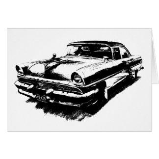 Mustango raro del vintage de los coches viejos del tarjeta de felicitación