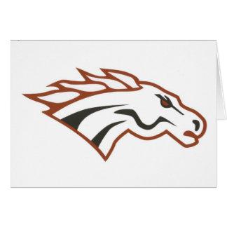 Mustangos del blanco del grado del río de los alce tarjeta de felicitación