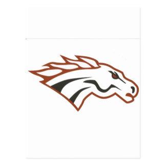 Mustangos del blanco del grado del río de los postal