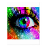 Muti coloreó el ojo postales