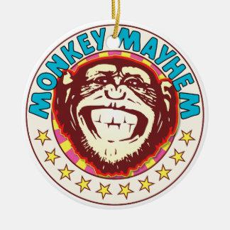 Mutilación del mono adorno redondo de cerámica