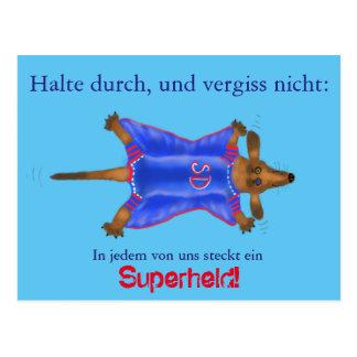 Mutmach tarjeta con héroe dulce de super (perro