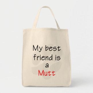 Mutt del mejor amigo… bolsa lienzo