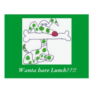 ¡Mutz- Wanta almuerza??!! Postal