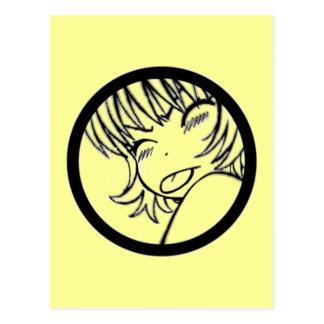 muuhh - animado lindo - >_< del kawaii postal