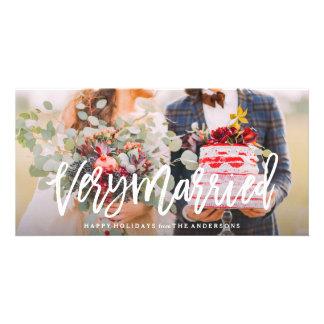 Muy casado tarjetas con fotos personalizadas