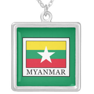 Myanmar Collar Plateado