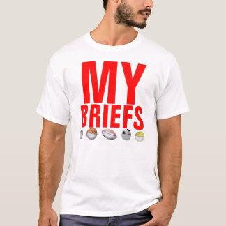 MyBriefs en su camiseta de la cara