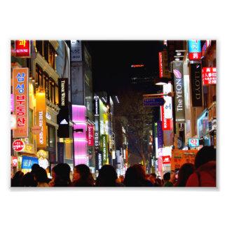 Myeongdong en la noche impresiones fotograficas