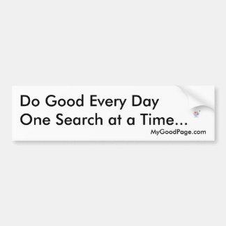MyGoodPage.com - haga bueno cada día… Pegatina Para Coche