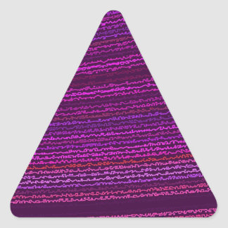 Mysterium reconstruido Tremendum de Roberto S. Lee Pegatina Triangular
