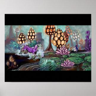 Mysts del Glowshrooms Póster