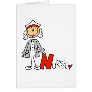 N está para la enfermera tarjeta de felicitación