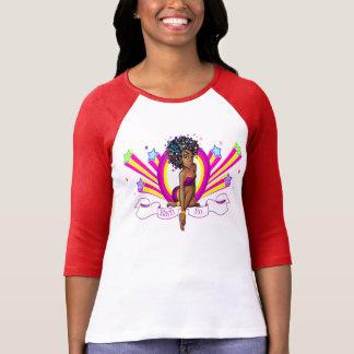 """¡Nach-Ro """"Starz"""" 3/4 camiseta del raglán de la"""