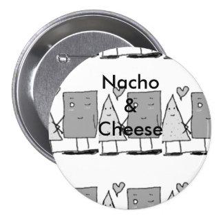 Nacho y queso chapa redonda de 7 cm