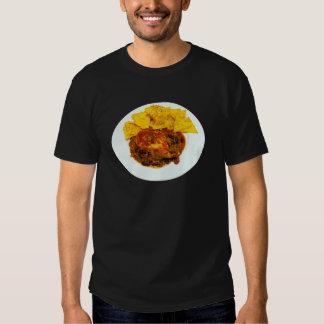 Nachos del queso de los chiles del pollo y de la camisas