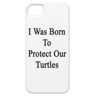 Nací proteger nuestras tortugas iPhone 5 cárcasa