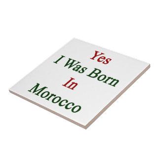 Nací sí en Marruecos Azulejo Cerámica