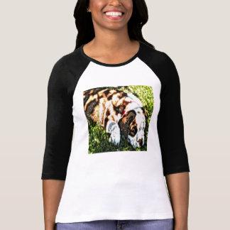 Nacido en el baby-boom el perrito del beagle en un camiseta
