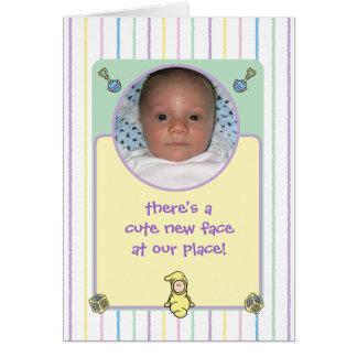 Nacimiento Announcment de Cutietoots (muchacho o c Felicitaciones