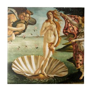 Nacimiento de Botticelli de la pintura del arte Azulejo Cuadrado Pequeño