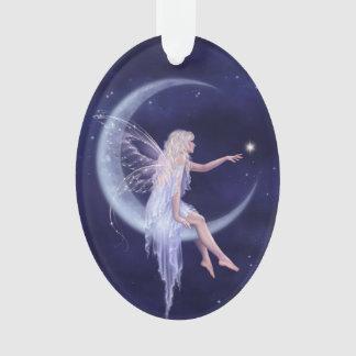 Nacimiento de un ornamento oval de hadas de la lun