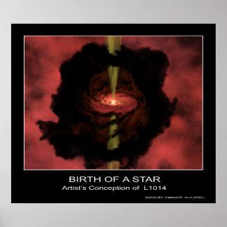 Nacimiento de una estrella - el concepto del artis posters