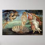 Nacimiento de Venus por Botticelli, arte renacenti Poster