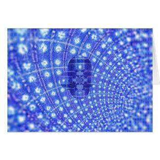 Nacimiento del fractal tarjeta de felicitación