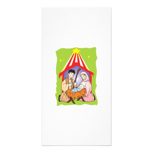 Nacimiento del navidad de la natividad de la tarjetas fotográficas personalizadas