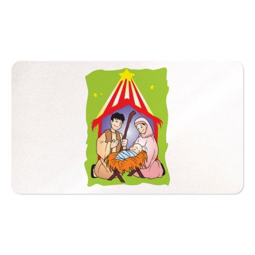 Nacimiento del navidad de la natividad de la tarjetas de visita