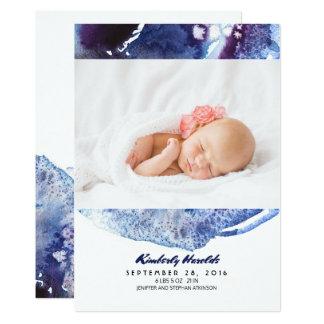 Nacimiento recién nacido de la foto del bebé de invitación 12,7 x 17,8 cm