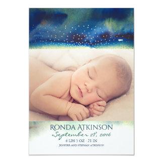 Nacimiento recién nacido de la foto del bebé de la invitación 12,7 x 17,8 cm
