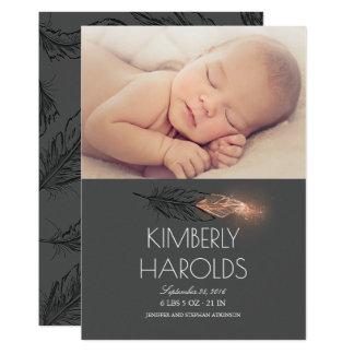 Nacimiento recién nacido de la foto del bebé del invitación 12,7 x 17,8 cm