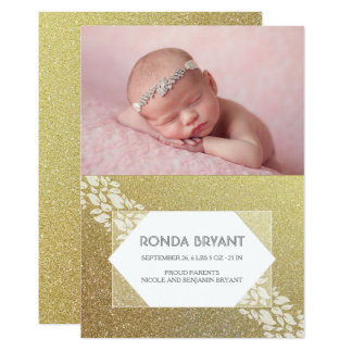 Nacimiento recién nacido fabuloso de la foto del invitación 12,7 x 17,8 cm