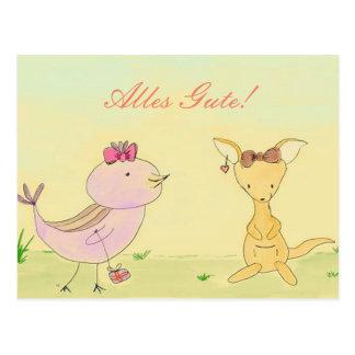 Nacimiento tarjeta postal cumpleaños Todo