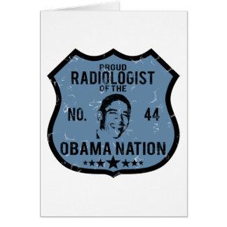 Nación de Obama del radiólogo Tarjeta De Felicitación