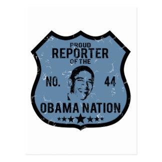 Nación de Obama del reportero Postal