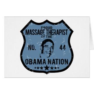 Nación de Obama del terapeuta del masaje Felicitaciones