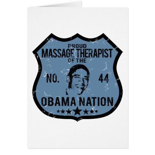 Nación de Obama del terapeuta del masaje Tarjeta