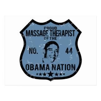 Nación de Obama del terapeuta del masaje Tarjeta Postal