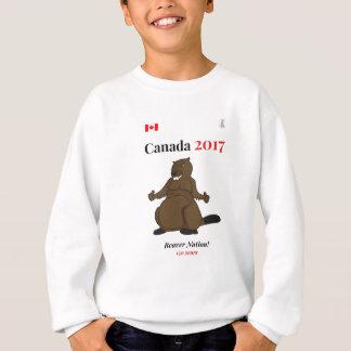 Nación del castor de Canadá 150 en 2017 Sudadera