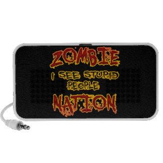 Nación del zombi - veo a gente estúpida iPhone altavoces