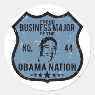 Nación importante de Obama del negocio Pegatina Redonda