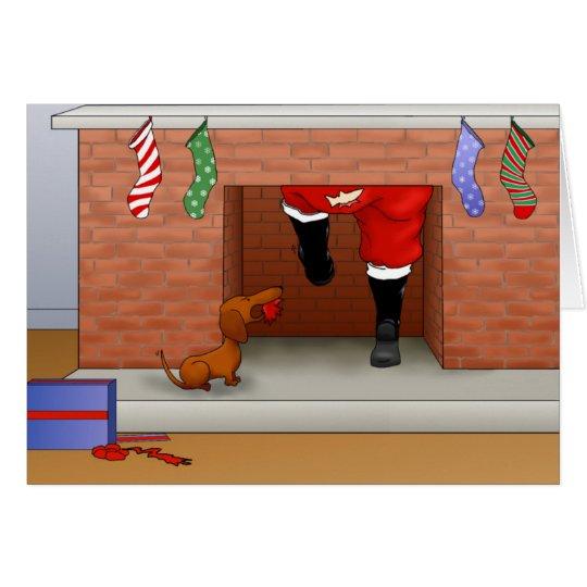 Nada empalma el navidad de un Doxie Tarjeta De Felicitación