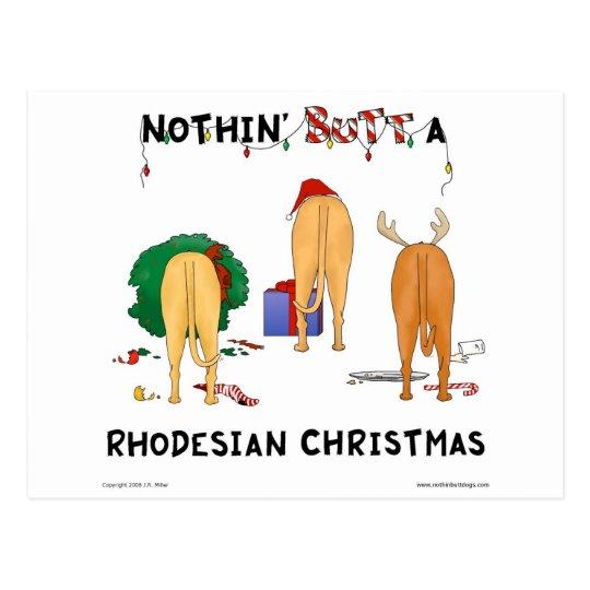 Nada empalma el navidad de un Rhodesian Postal