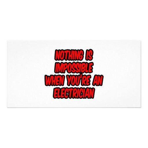 Nada es imposible… electricista tarjetas fotográficas