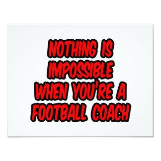Nada es imposible… entrenador de fútbol invitación 10,8 x 13,9 cm