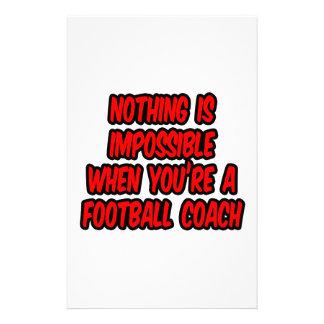 Nada es imposible… entrenador de fútbol papelería personalizada