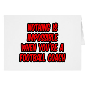 Nada es imposible… entrenador de fútbol tarjetón